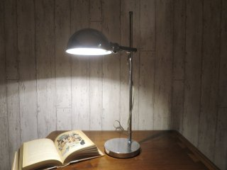 ビンテージ 60-70's クロームテーブルランプ