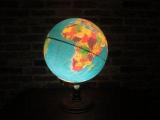 ビンテージ 70-80's ライト付 地球儀