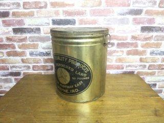 ビンテージ PARROT QUALITY ラード缶
