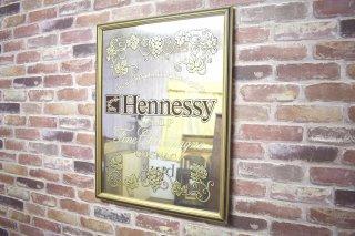 ビンテージ Hennessy パブミラー