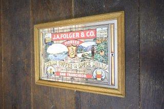 ビンテージ J.A. FOLGER'S & CO. パブミラー