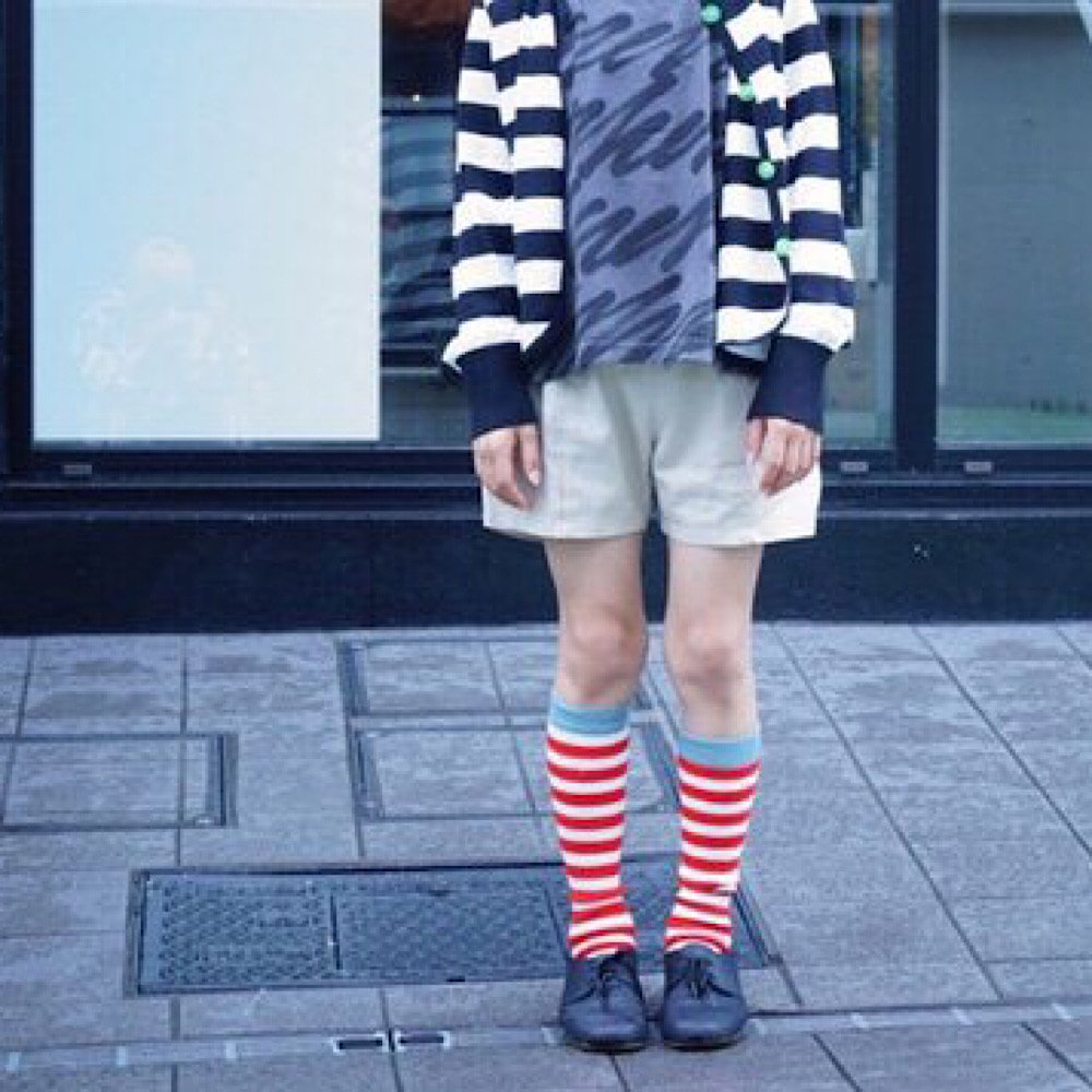 franky grow/【kid's】 border highsocks