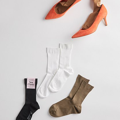MARCOMONDE /ribcotton socks