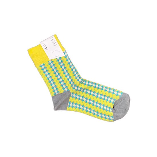 SOS/【ELECTRO】panel socks -yellow-