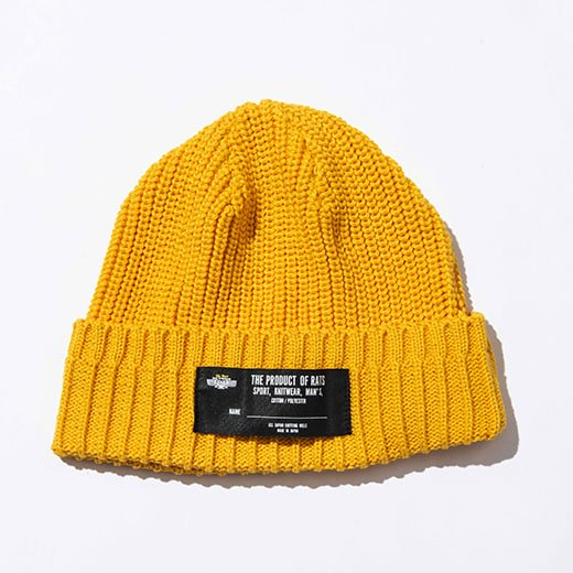 <img class='new_mark_img1' src='//img.shop-pro.jp/img/new/icons14.gif' style='border:none;display:inline;margin:0px;padding:0px;width:auto;' />RATS COTTON KNIT CAP