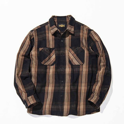 <img class='new_mark_img1' src='//img.shop-pro.jp/img/new/icons14.gif' style='border:none;display:inline;margin:0px;padding:0px;width:auto;' />RATS COTTON CHECK FLANNEL SHIRT