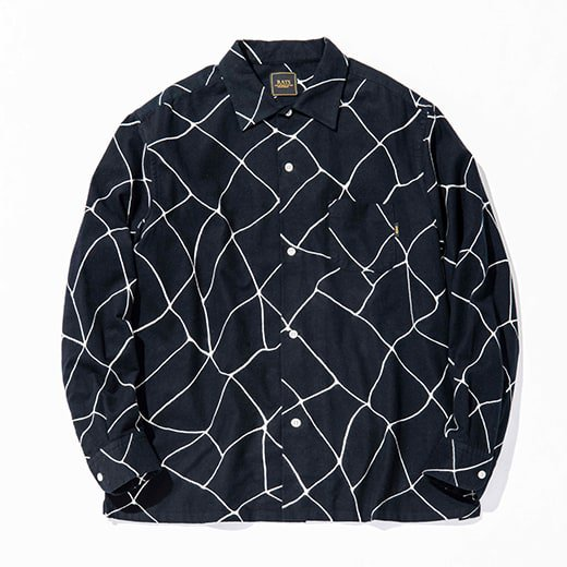 RATS SPIDERWEB PRINT FLANNEL SHIRT