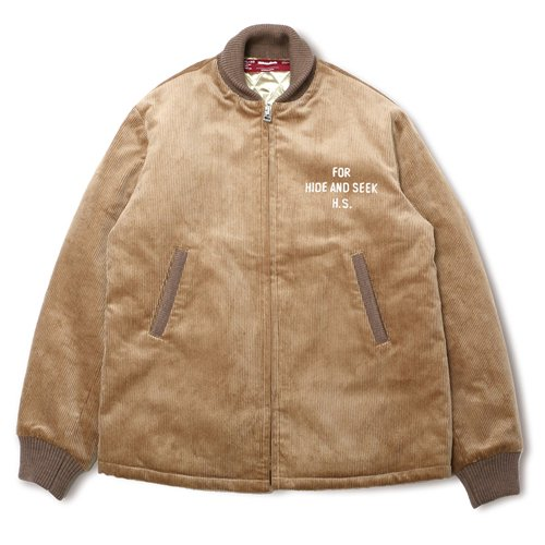 <img class='new_mark_img1' src='https://img.shop-pro.jp/img/new/icons14.gif' style='border:none;display:inline;margin:0px;padding:0px;width:auto;' />HideandSeek / Cord Sports Jacket