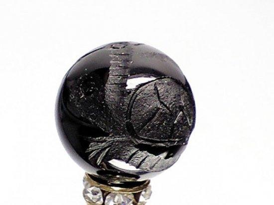職人手彫の本格派!!風水☆ 四神獣彫刻【玄武】オニキス 10ミリ〜16ミリ