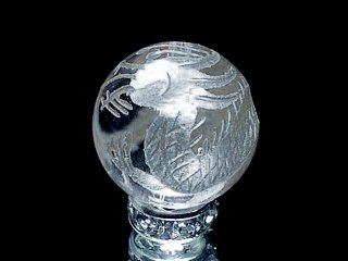 銀彫四神【青龍】本水晶 10ミリ〜12ミリ