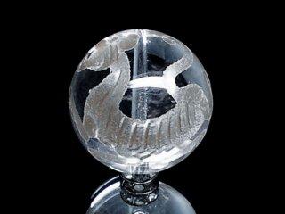 銀彫四神【白虎】本水晶 10ミリ〜12ミリ