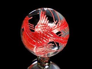 紅彫四神獣【朱雀】本水晶 10ミリ〜18ミリ