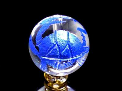 青彫四神獣【玄武】本水晶 10ミリ〜14ミリ