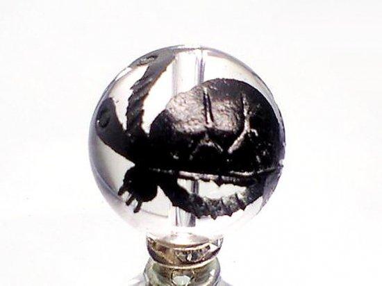 黒彫四神獣【玄武】本水晶 10ミリ〜18ミリ