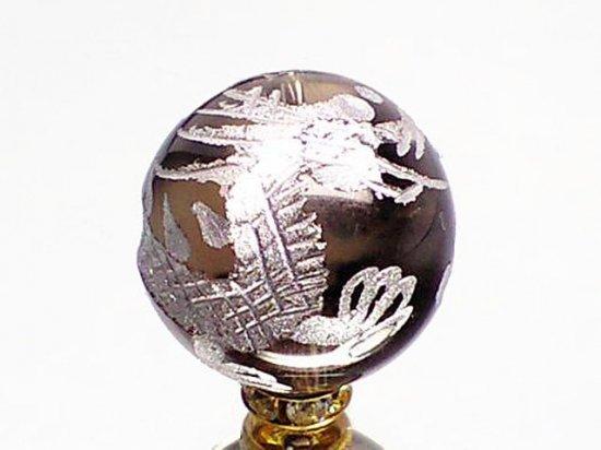 銀彫四神獣【青龍】茶水晶 12ミリ〜16ミリ