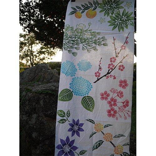 伊豆博物図譜 vol.1 伊豆の花手ぬぐい tenu