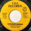 RICHARD TANN - LEAVE ME WITH MEMORIES[era records/philippines]'82/2trks.7 Inch