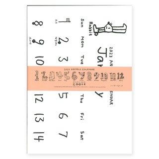 【定形外郵便OK】小西慎一郎 シンプルなアニマルカレンダー2019ノートタイプ (B3サイズ)