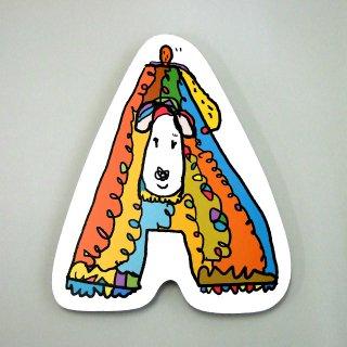 【メール便OK】小西慎一郎 アルファベットアニマルポストカード [A] イヌ
