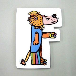 【メール便OK】小西慎一郎 アルファベットアニマルポストカード [F] ライオン