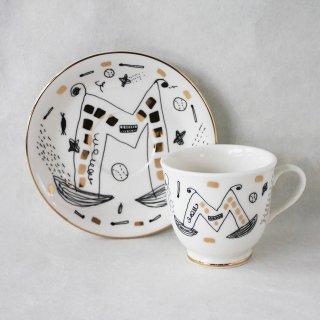 【ギフト】【ペアカップ】studio coote スタジオクート 小西慎一郎 アルファベット コーヒーカップ&ソーサ[M]