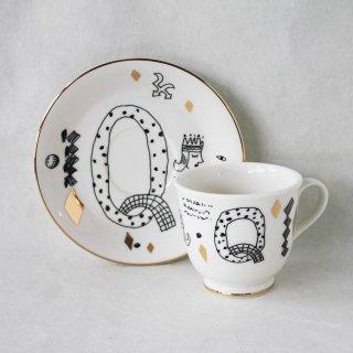【ギフト】【ペアカップ】studio coote スタジオクート 小西慎一郎 アルファベット コーヒーカップ&ソーサ[Q]