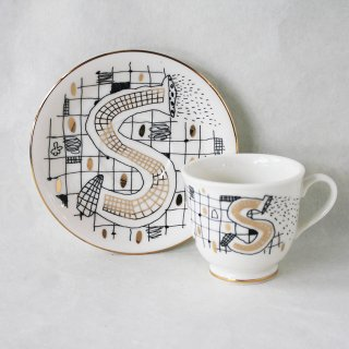 【ギフト】【ペアカップ】studio coote スタジオクート 小西慎一郎 アルファベット コーヒーカップ&ソーサ[S]