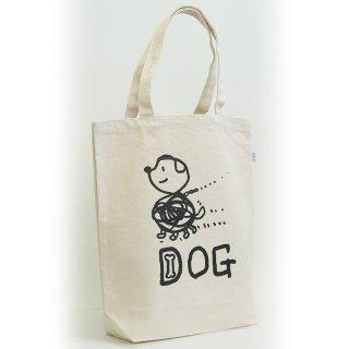 【メール便OK】studio coote スタジオクート 小西慎一郎 モノクロアニマル トートバッグ キャンバス地 Mサイズ 10リッター 〔8〕DOG