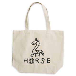 【メール便OK】studio coote スタジオクート 小西慎一郎 モノクロアニマル トートバッグ キャンバス地 Lサイズ 19リッター 〔2〕HORSE