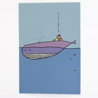 【メール便OK】studio coote スタジオクート 小西慎一郎 引越し・転居 はがき ポストカード [クジラ]