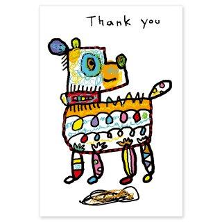 【メール便OK】studio coote スタジオ クート 小西慎一郎 ベニヤアニマルポストカード [Thank you イヌ]