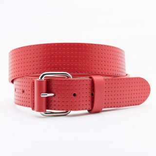 New Punching Star[Red] / 38mm Genuine Leather ITALY