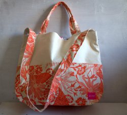 2way tote bag  Paradise orange