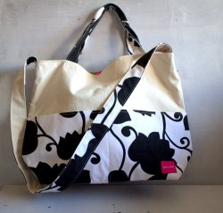2way tote bag   Matthew black&white