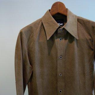 ISAMU KATAYAMA BACKLASH コットン レーヨン形態塩縮レギュラーカラーシャツ(1660-01)KHK