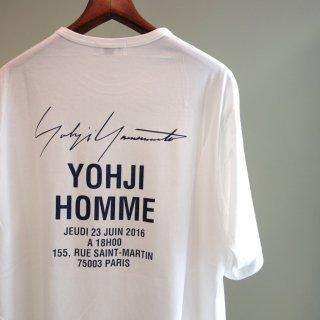 YOHJI YAMAMOTO BIGパリコレクションスタッフTシャツ(HD-T49-080)WHT