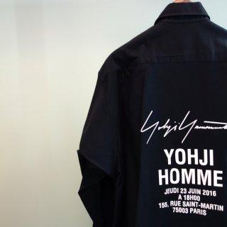 YOHJI YAMAMOTO HOMMEパリコレクションスタッフシャツ(HD-B99-999)BLK