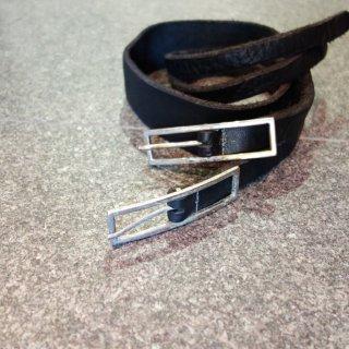 incarnation buffalo double bend belt long W buckle(31318-8421)BLK
