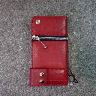 ISAMU KATAYAMA BACKLASH イタリーショルダーレザー携帯ケース(705-03)RED