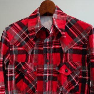 ISAMU KATAYAMA BACKLASH ピッグスエード チェックシャツ(1661-01)RED