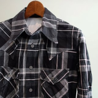 ISAMU KATAYAMA BACKLASH ピッグスエード チェックシャツ(1661-01)BLK