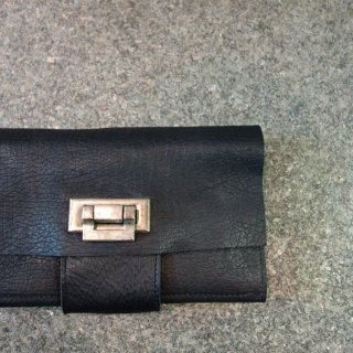 incarnation horse butt leather wallet large#2(31413-8310)BLK