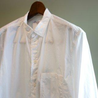 YOHJI YAMAMOTO 定番台襟環縫いシャツ(HD-B01-001)WHT