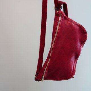 GUIDI SOFT HORSE FULL GRAIN BELT BAG Q10-RED