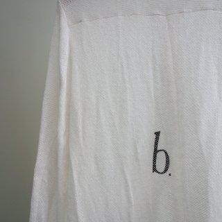 bajra リネン カラミネット スタンドカラーロングシャツ(125BS01)WHT