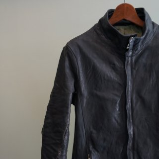 incarnation horse leather h/n zip/f blouson w/pkt lined(11511-4797)