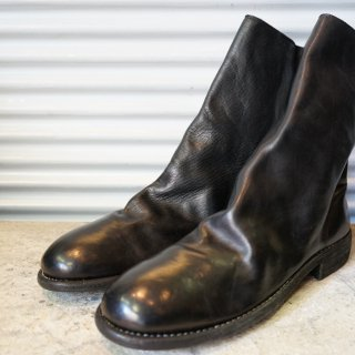 GUIDI HORSE FULL GRAIN LINED BACK ZIP MID BOOT SOLE LEATHER