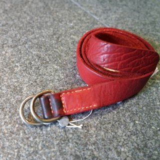 GUIDI BISON FULL GRAIN LEATHER BELT RED