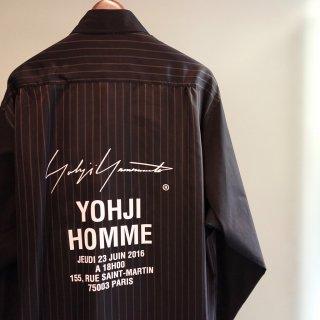YOHJI YAMAMOTO ストライプ スタッフシャツA(HW-B08-201)