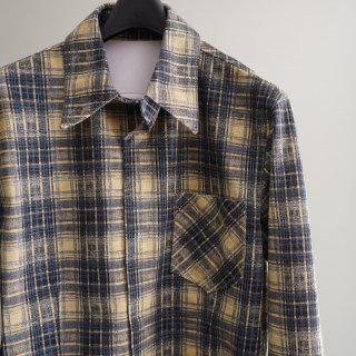 ISAMU KATAYAMA  BACKLASH ピッグ スエード チェックプリントシャツ(1747-02)